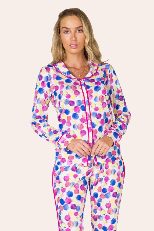 004/J - Pijama Adulto Feminino Aberto Colorido