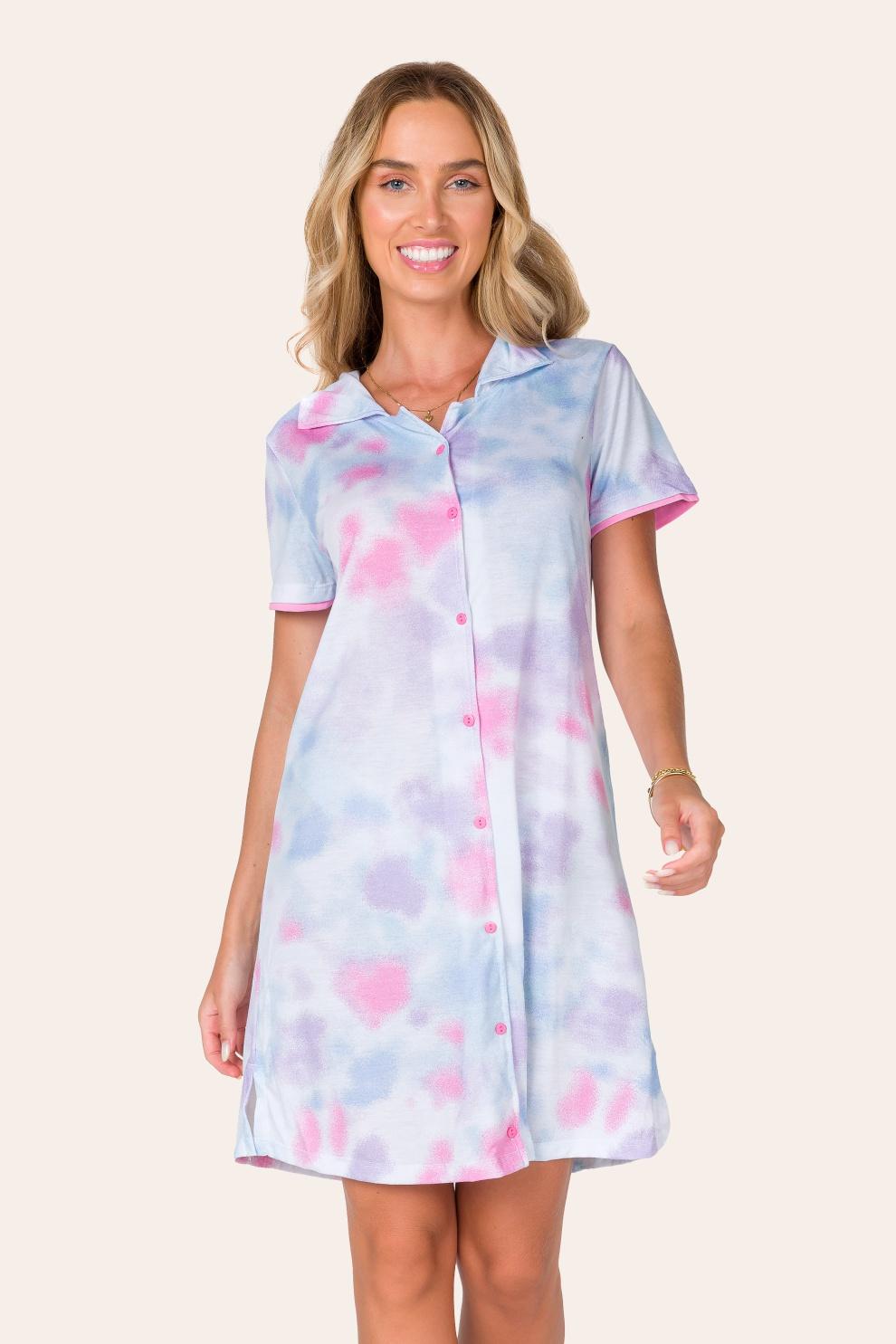 005/A - Camisola Adulto  Aberta Tie Dye