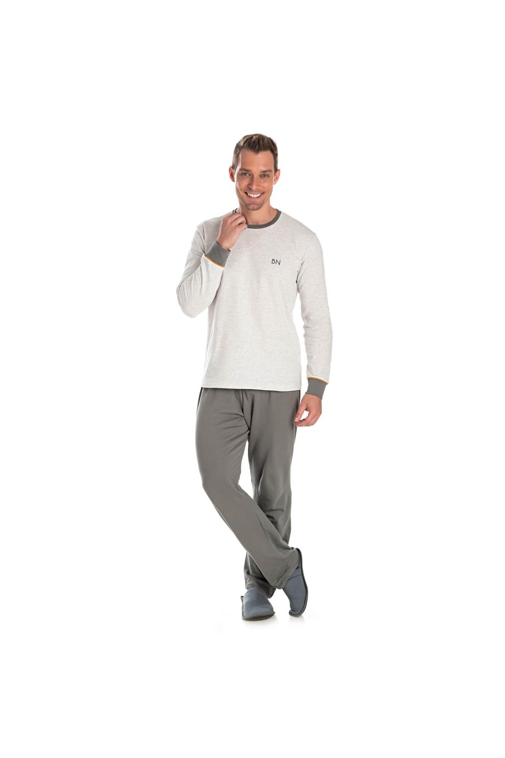 222/D - Pijama Adulto Masculino Felpado
