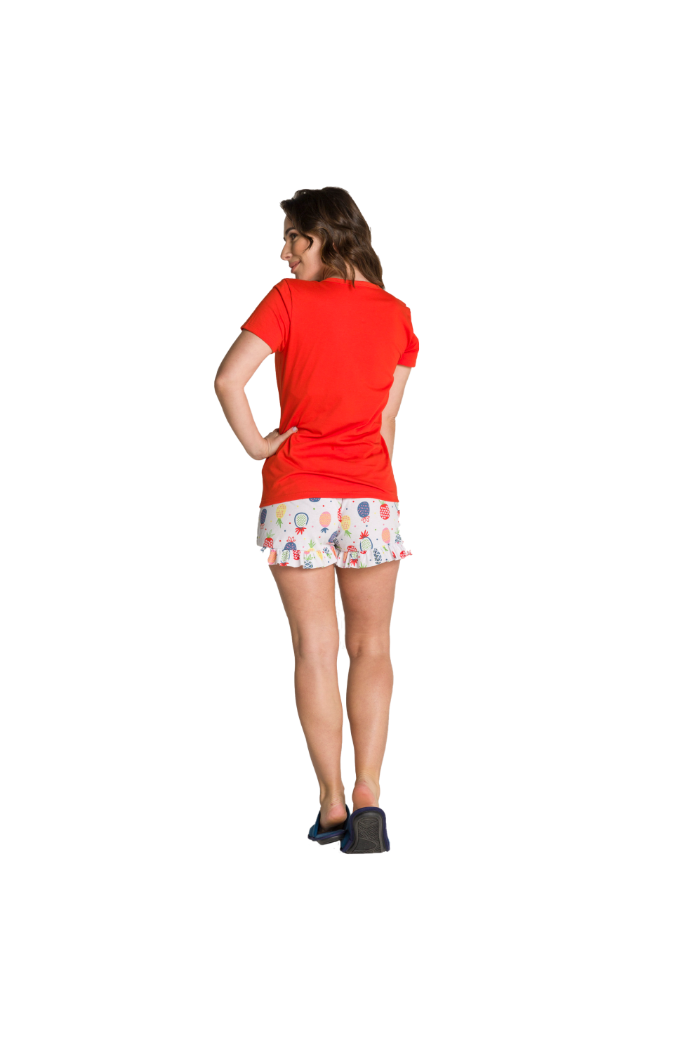 015/B - Pijama Adulto Feminino So Fresh com Babado