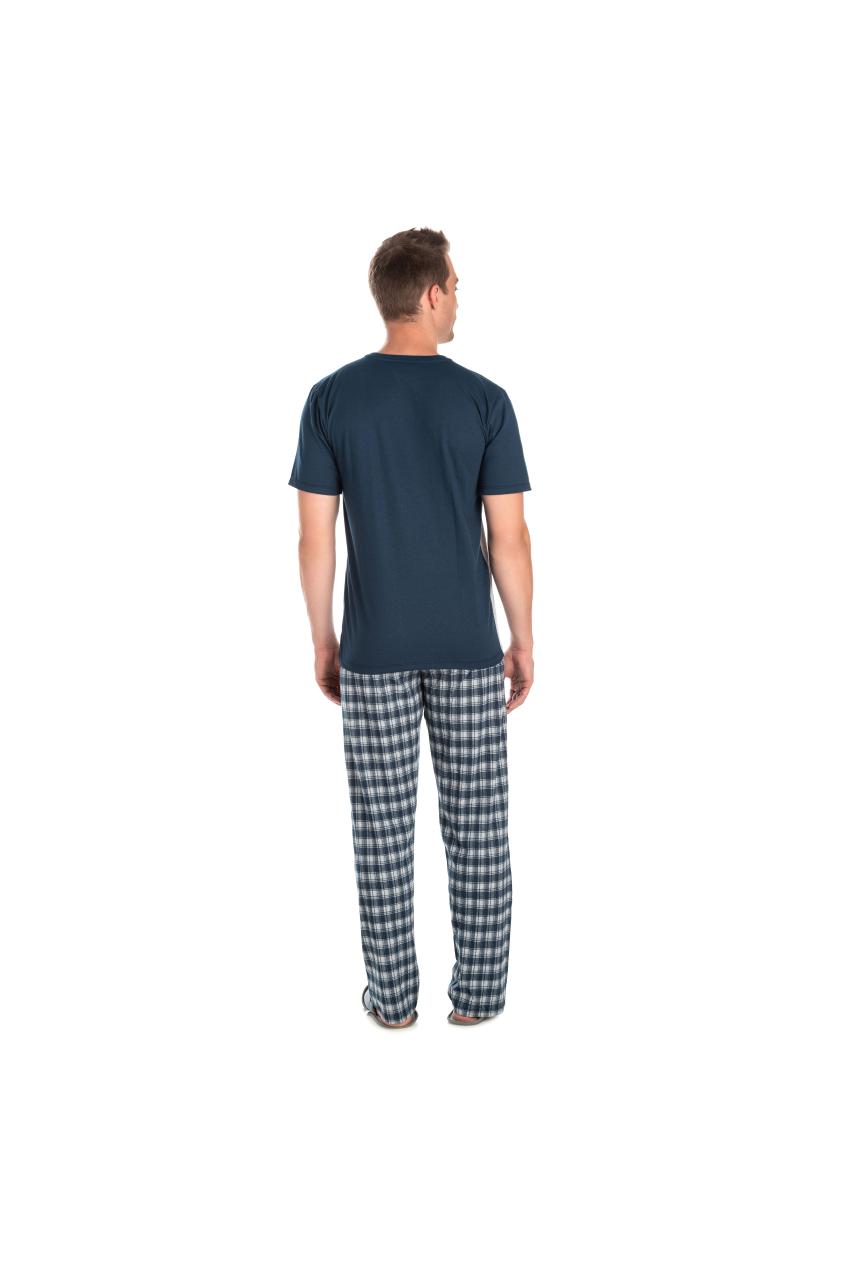 Pijama Adulto Masculino Camisa Meia Estação Xadrez