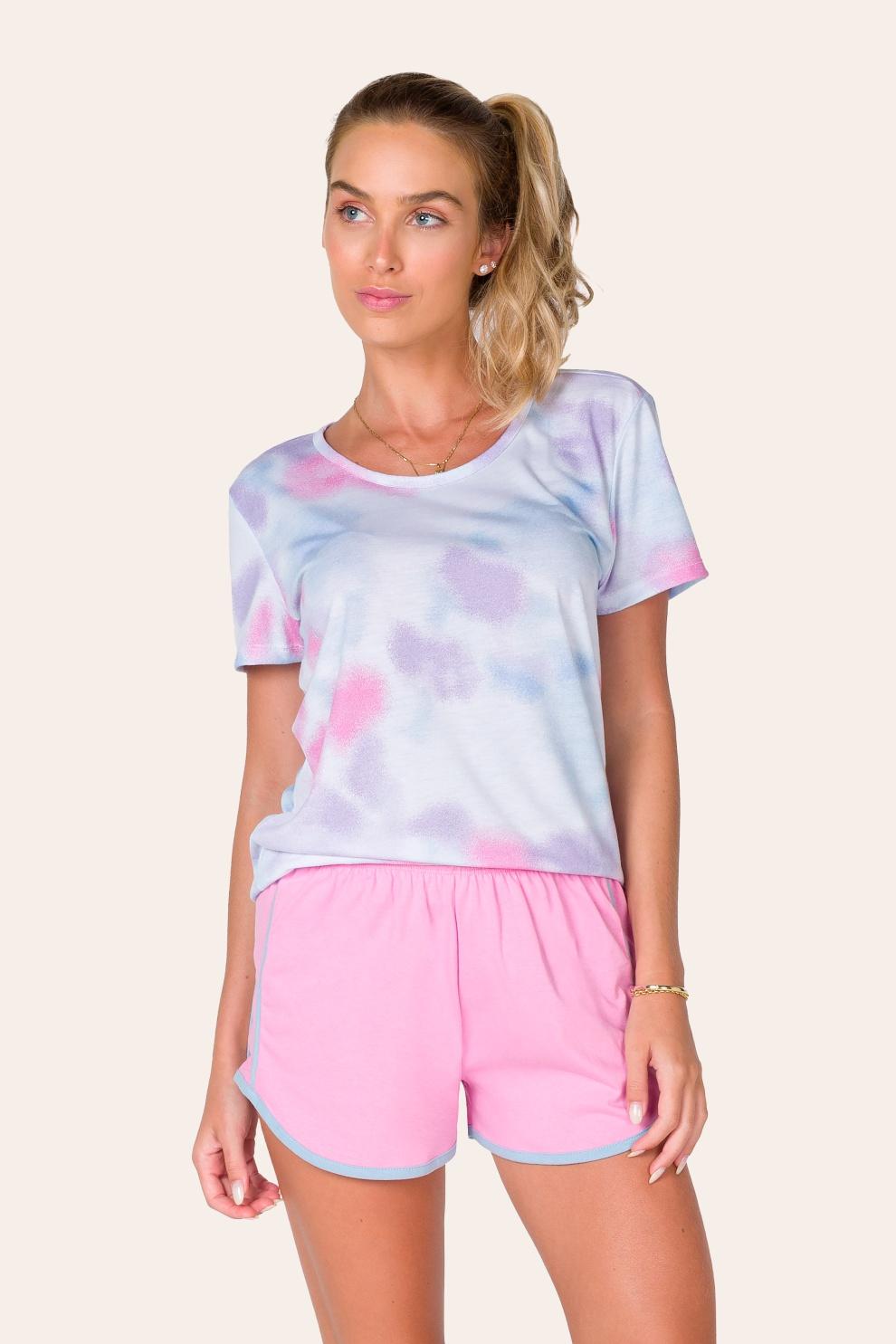 005/E - Short Doll Adulto Feminino Tie Dye