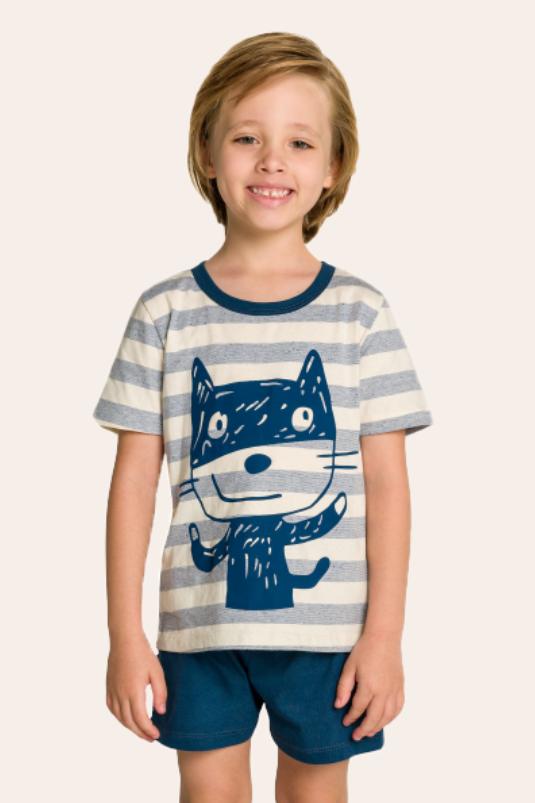 005/F - Pijama Infantil Masculino Familia Cats