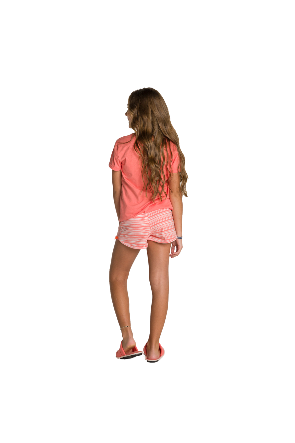 011/B - Short Doll Juvenil Feminino Bonjour - Estampa Perolada