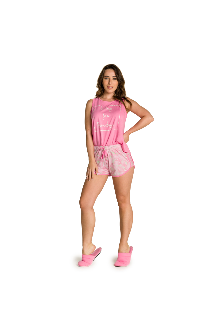 006/E - Pijama Feminino Adulto Living for Sundays