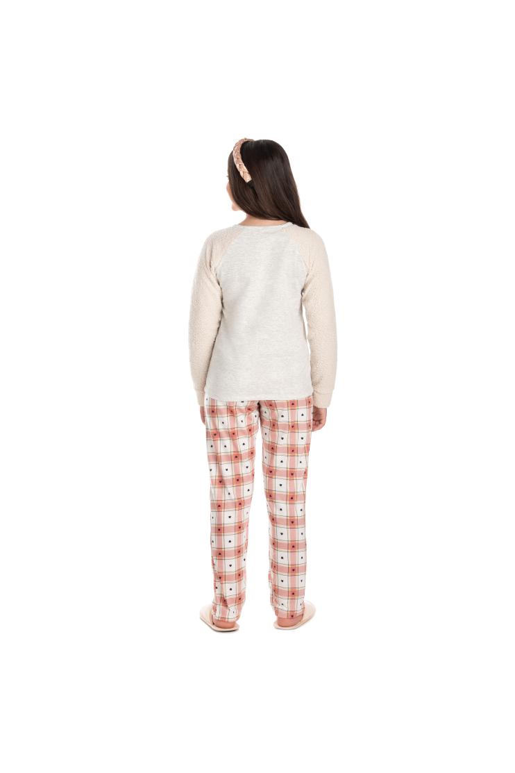 017/B - Pijama Juvenil Feminino com Pelo Carneirinho
