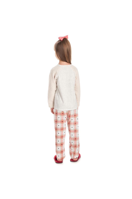 222/C - Pijama Infantil Feminino com Pelo Carneirinho