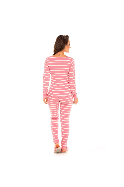 Pijama Adulto Feminino de Ribana Rosa