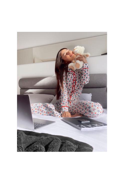 005/A - Pijama com Gola e Filete