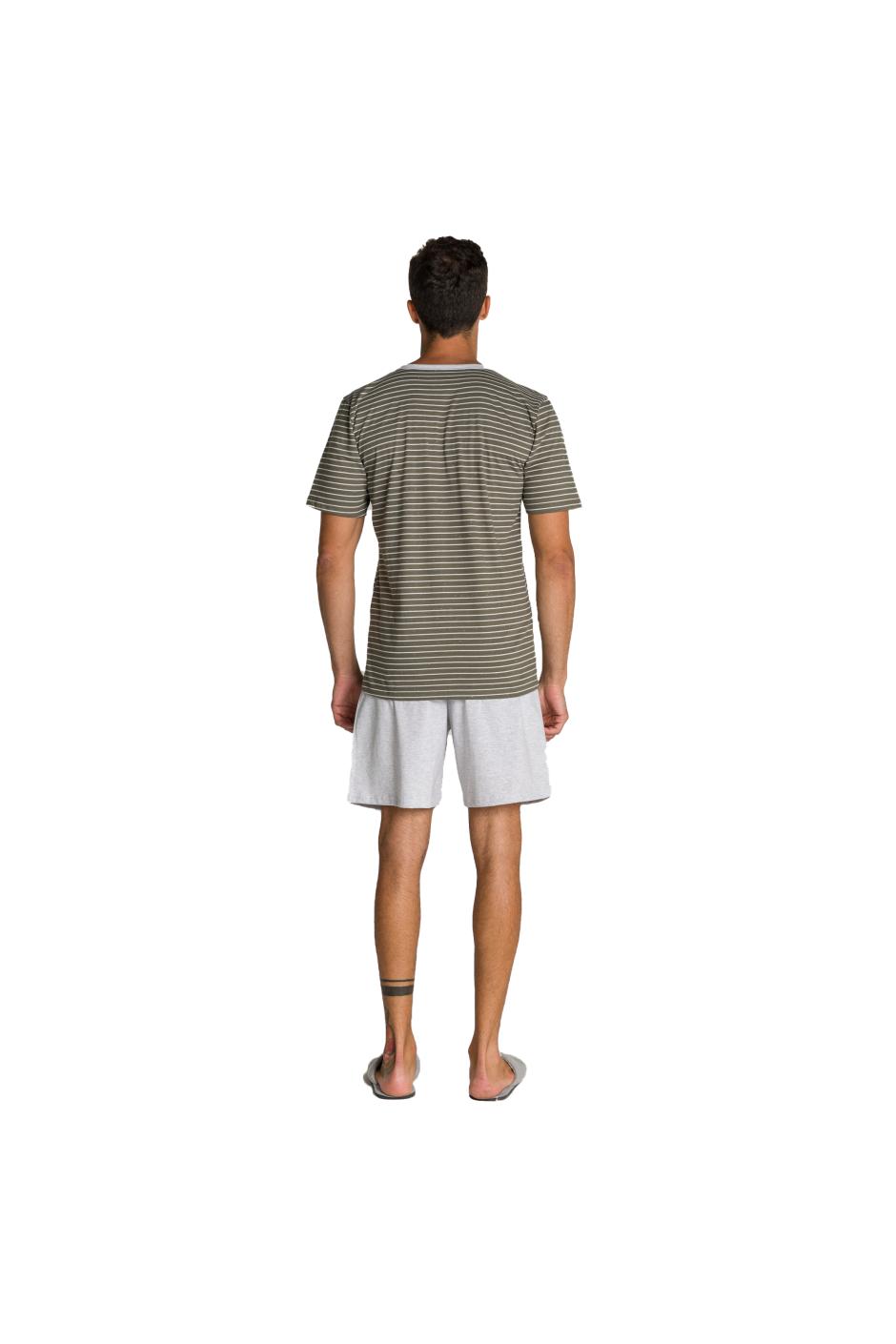 007/A - Pijama Adulto Masculino Pai e Filhos Botonê Listrado