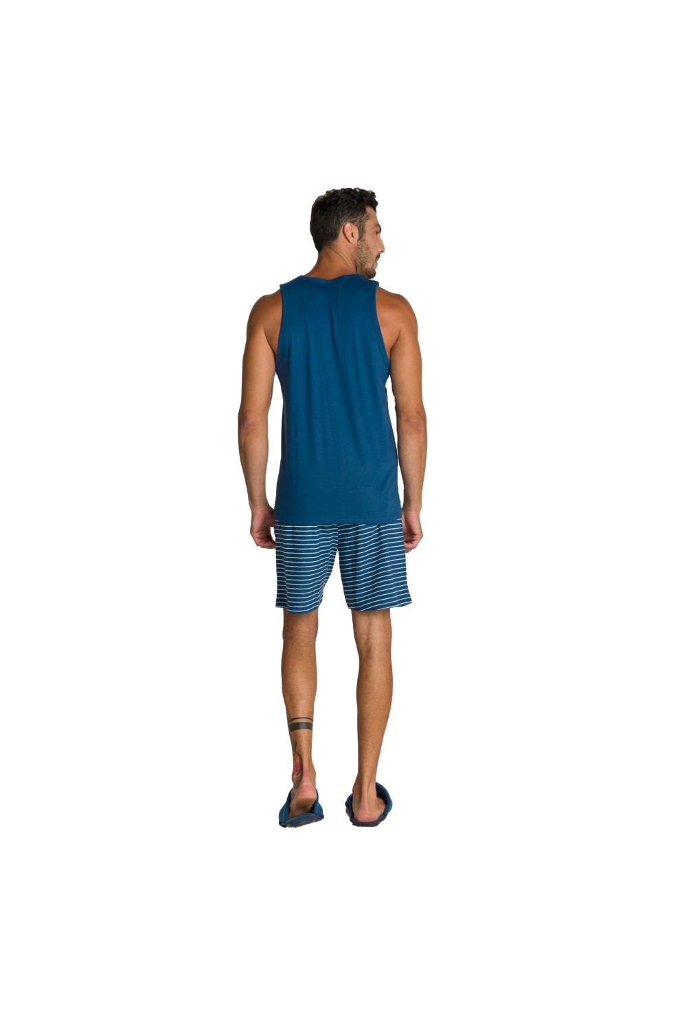 007/G - Pijama Adulto Masculino Regata e Bermuda Botonê