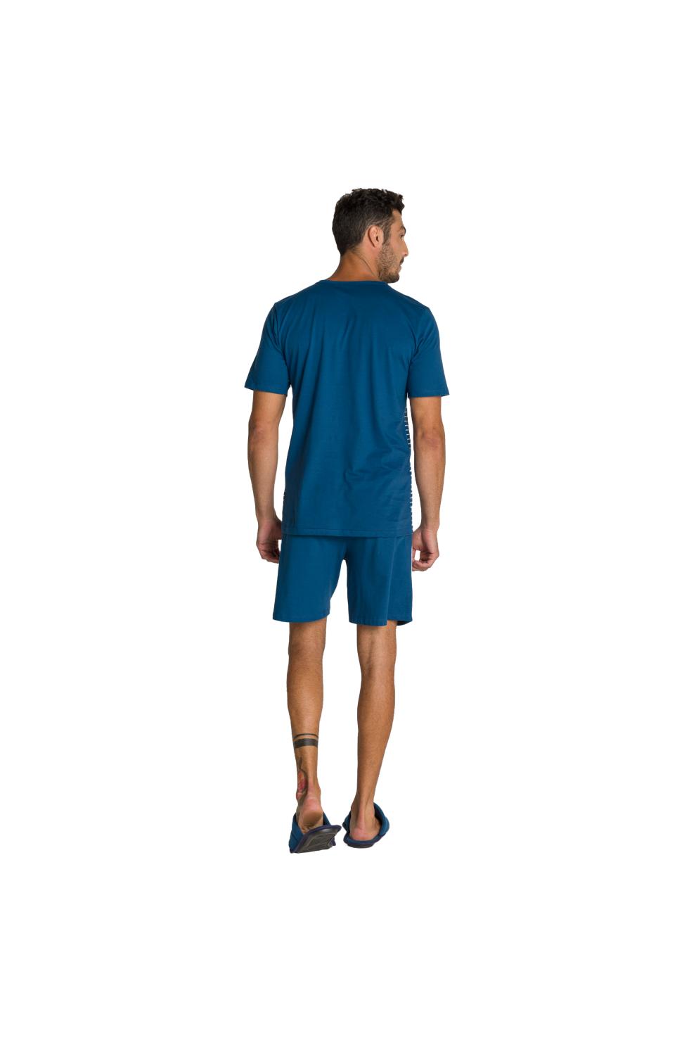 134/D - Pijama Adulto Masculino Botonê Estampa Termocolante