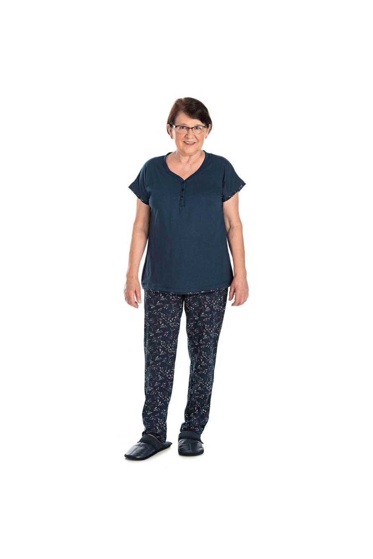 013/F - Pijama Curto Adulto Feminino Com Botões