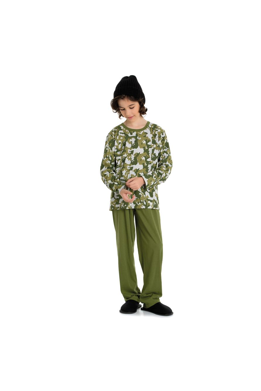 014/B - Pijama Masculino Juvenil Moletinho