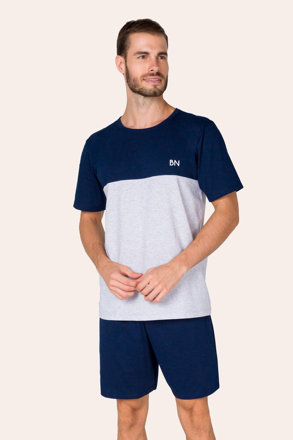 035/A - Pijama Adulto Masculino com Recorte
