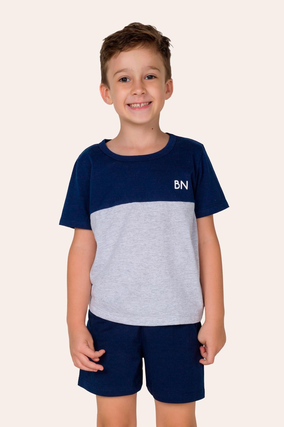 035/C- Pijama Infantil Masculino com Recorte