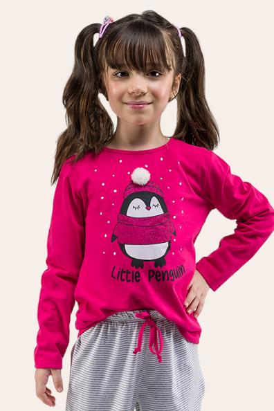 011/D - Pijama Infantil Feminino Little Pinguim