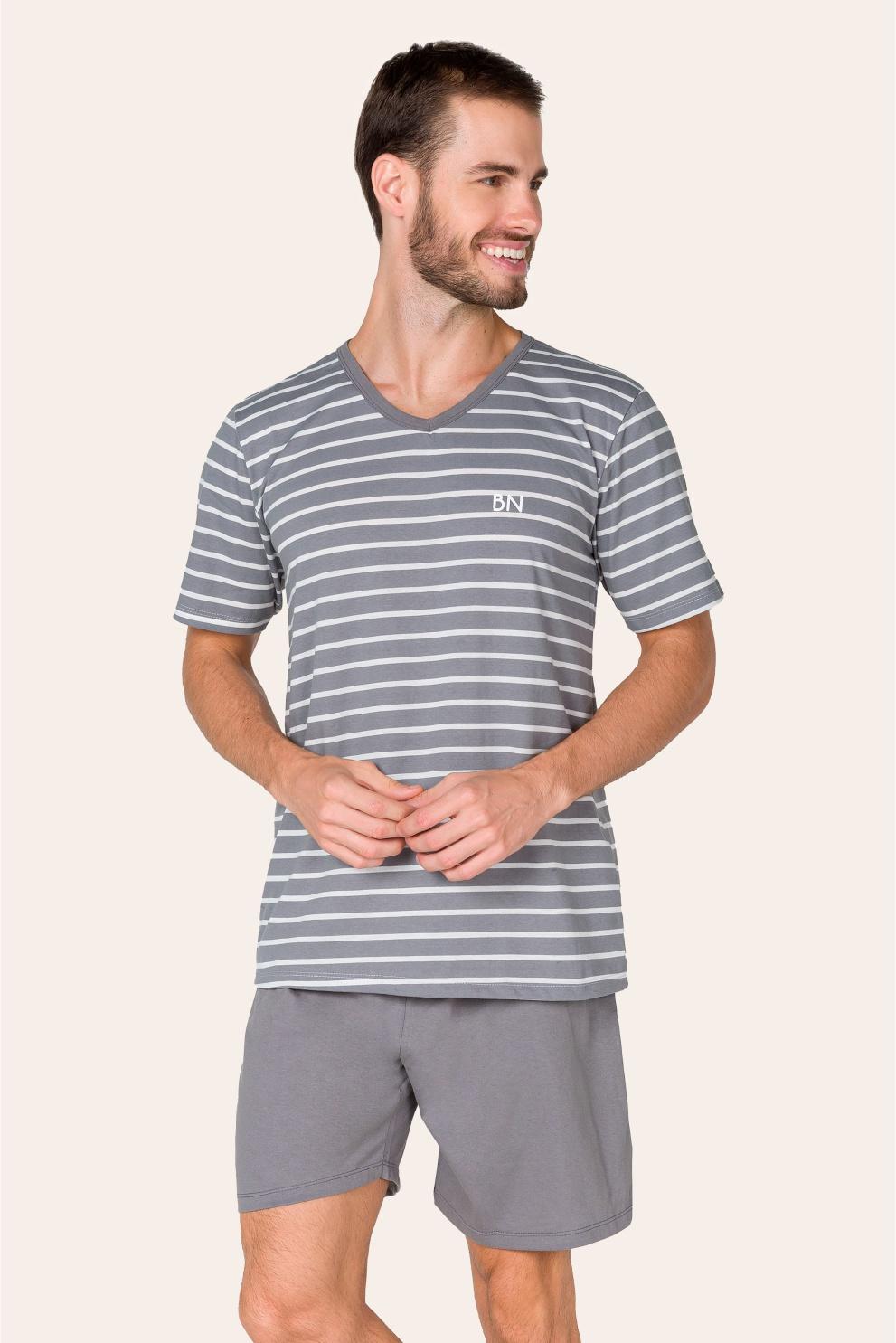 013/B - Pijama Adulto Masculino Listrado