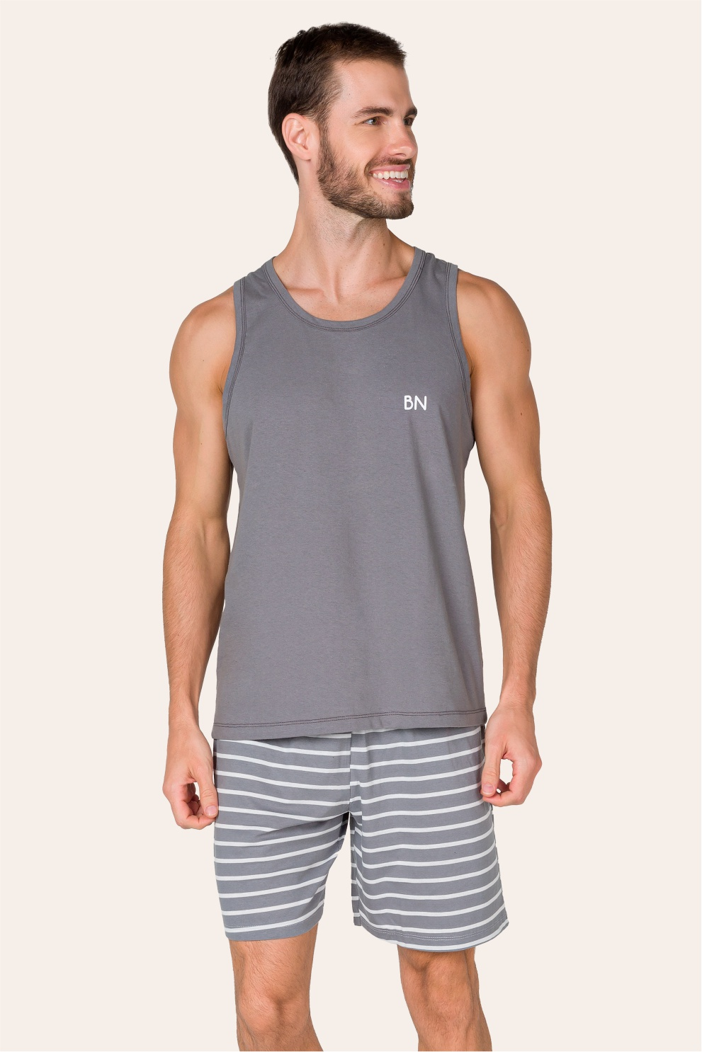 013/D - Pijama Adulto Masculino Regata