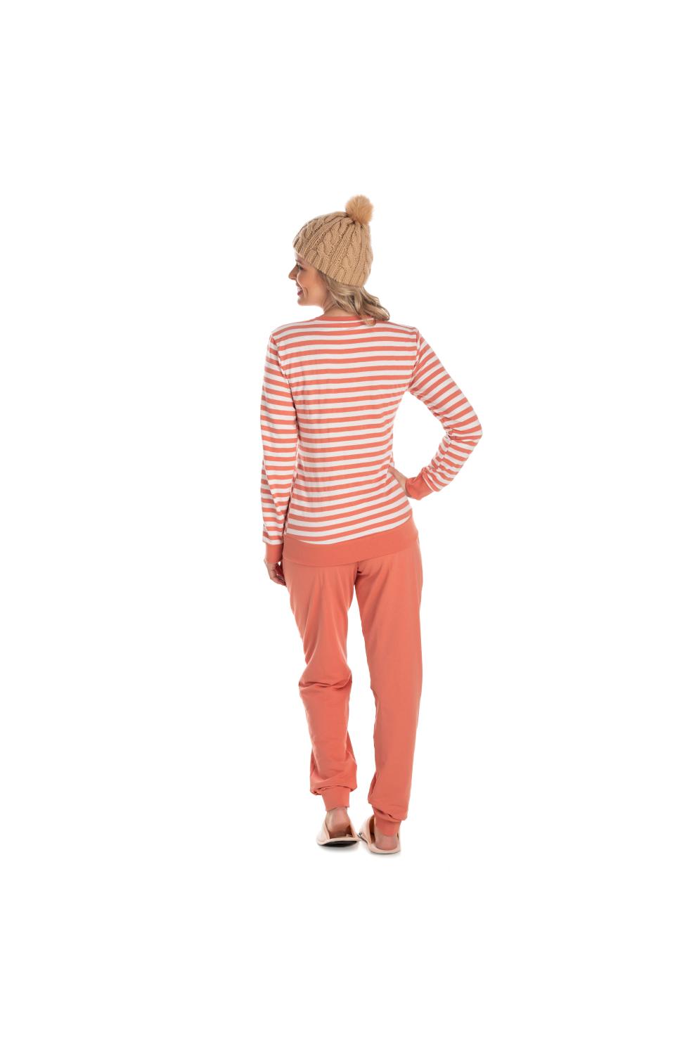 050/A - Pijama Adulto Feminino em Moletinho Felpado