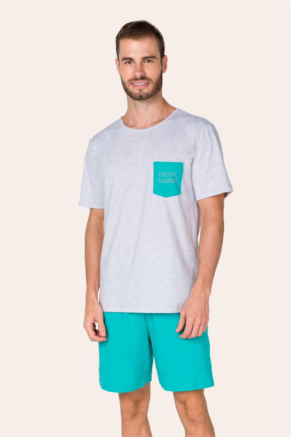 017/D - Pijama Adulto Masculino Daddysaurus - Família