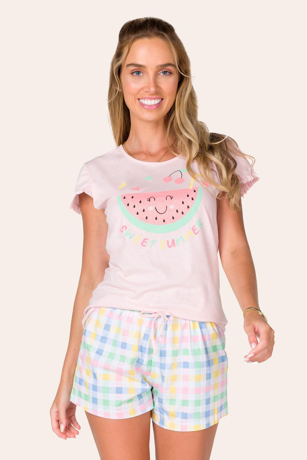 019/B - Pijama Adulto Feminino Sweet Summer