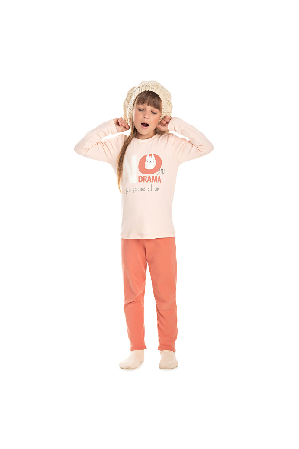 221/B - Pijama Infantil Feminino LLAMA