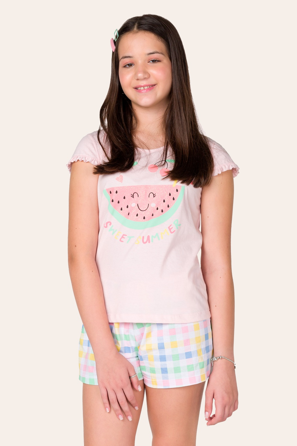 019/C - Pijama Juvenil Feminino Sweet Summer