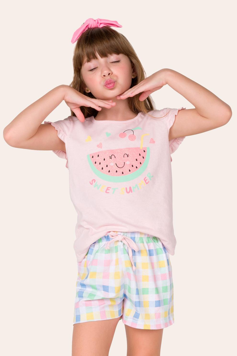 019/D - Pijama Infantil Feminino Sweet Summer