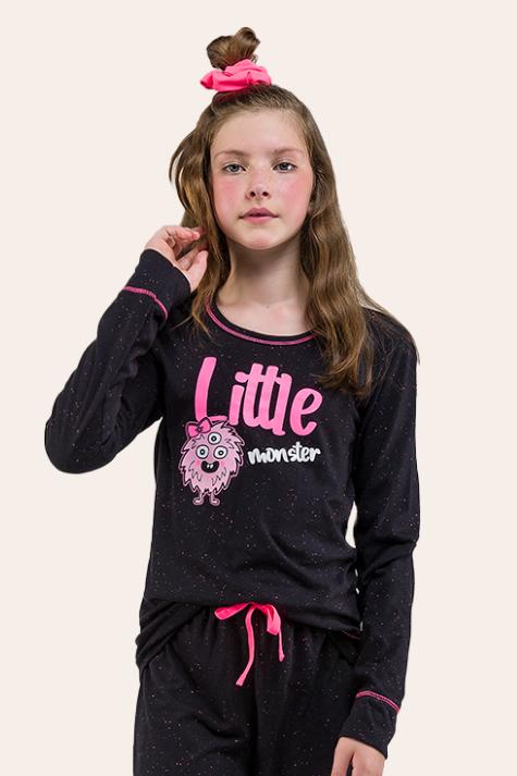 021/B - Pijama  Juvenil  Feminino Monster