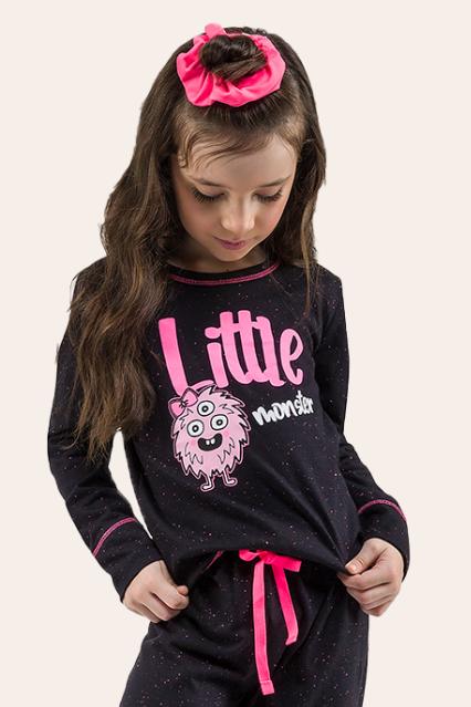 021/C - Pijama Infantil Feminino Monster