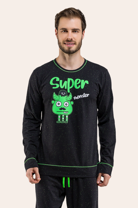 021/D - Pijama Adulto Masculino Monster