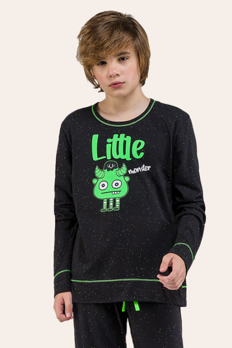 021/E - Pijama Juvenil Masculino Monster