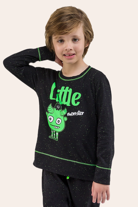 021/F - Pijama Infantil masculino Monster