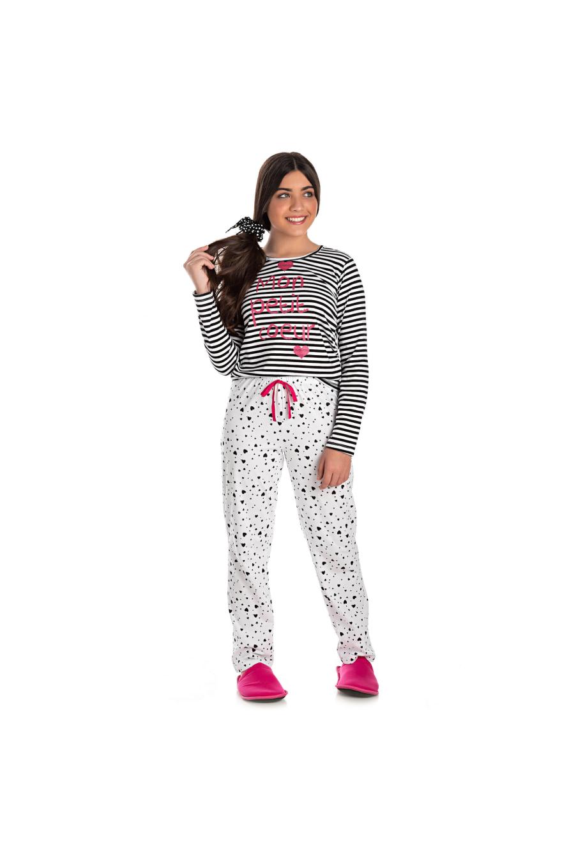 021/C - Pijama Juvenil Feminino Mon Petit Coeur