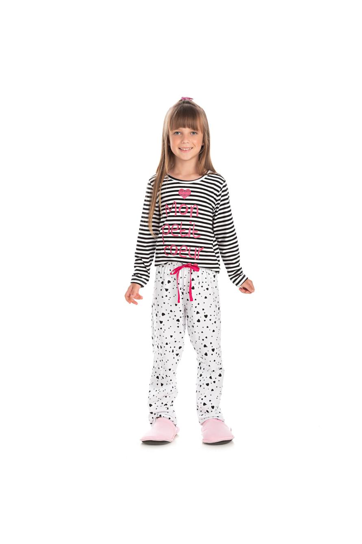 021/C - Pijama Infantil Feminino Mon Petit Coeur