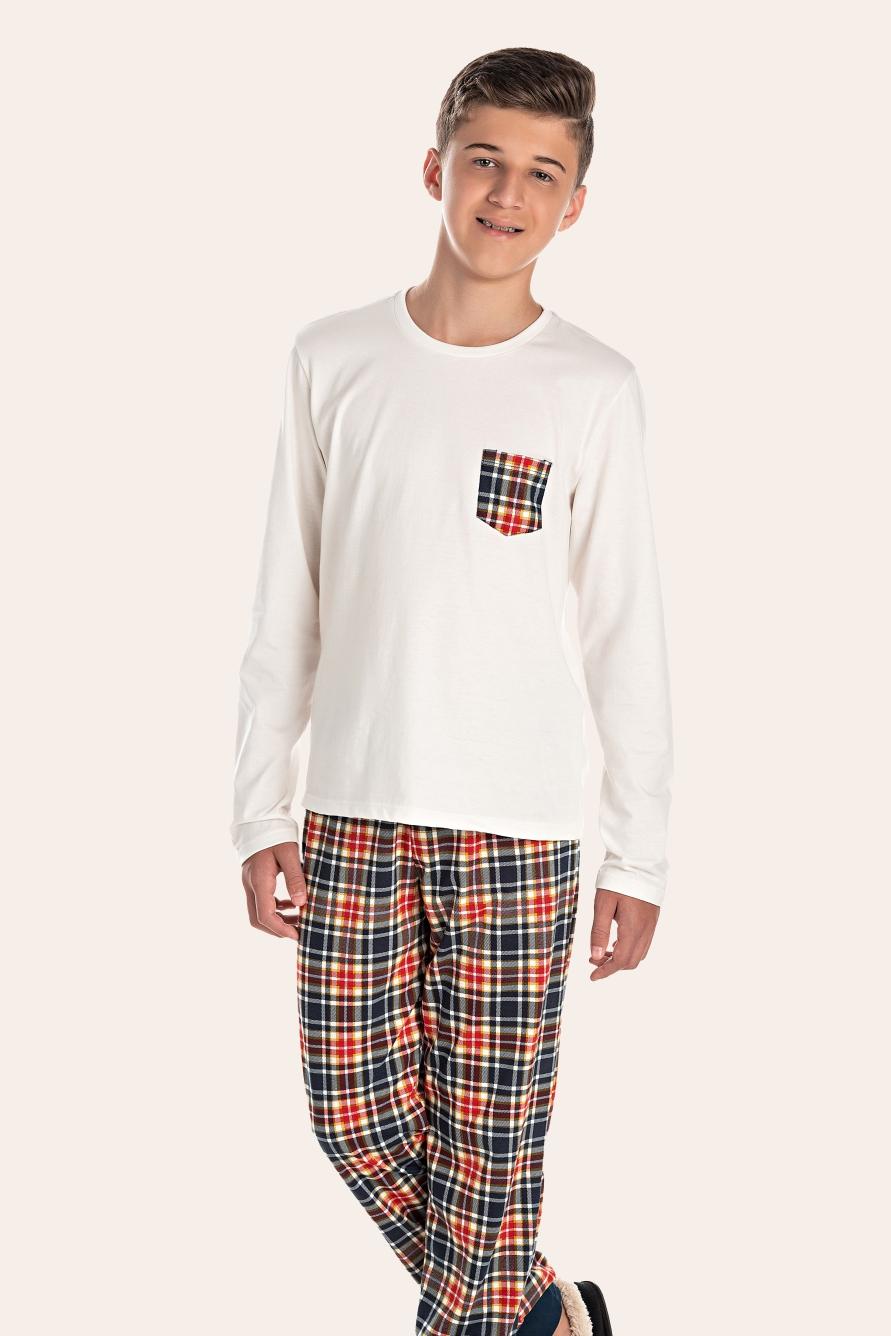 036/M - Pijama Juvenil Masculino Happy Family