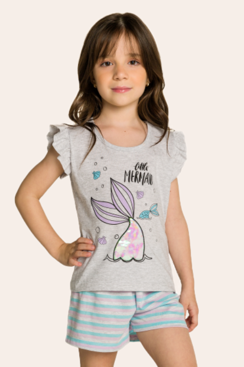 039/C - Short Doll Infantil Mermaid Interativo