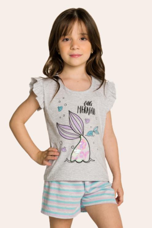 211/G - Short Doll Infantil Mermaid Interativo