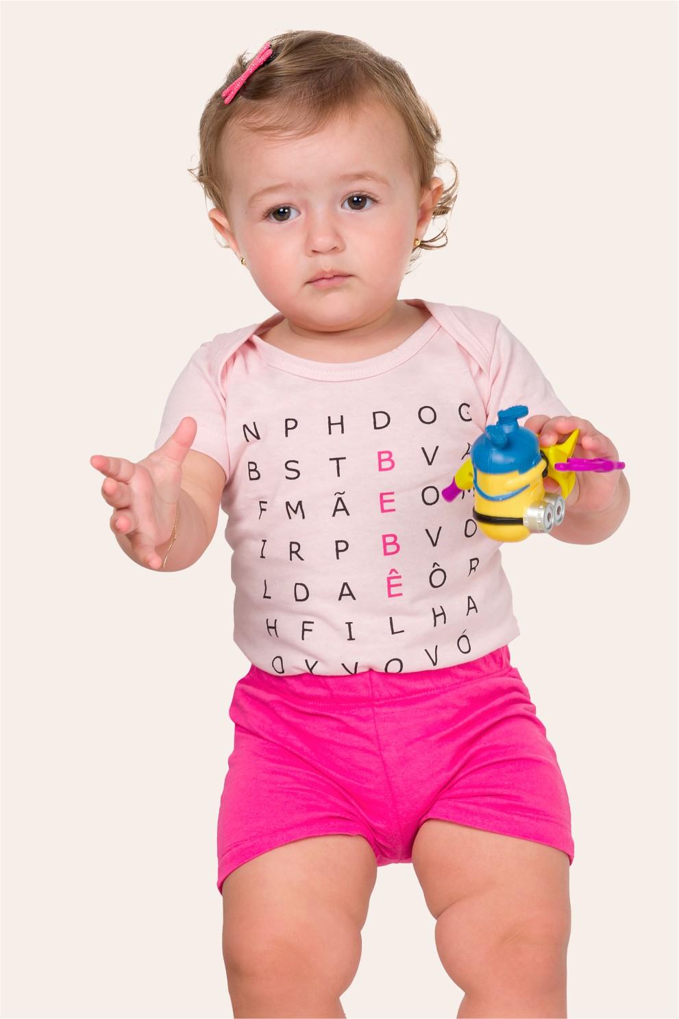 039/F - Pijama Bebê Feminino Caça-palavras - Bebê