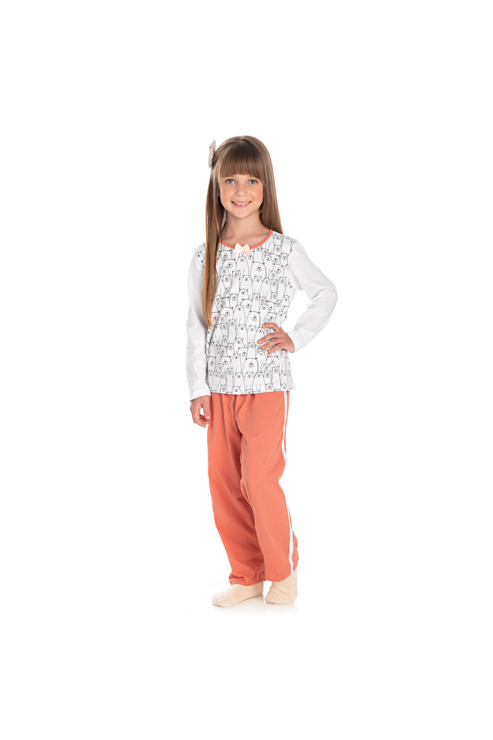 041/B - Pijama Infantil Feminino Urso