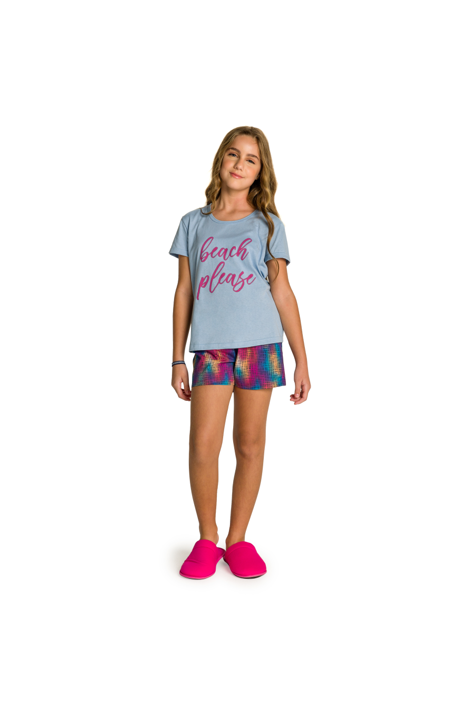 215/D - Short Doll Juvenil Feminino Beach Please