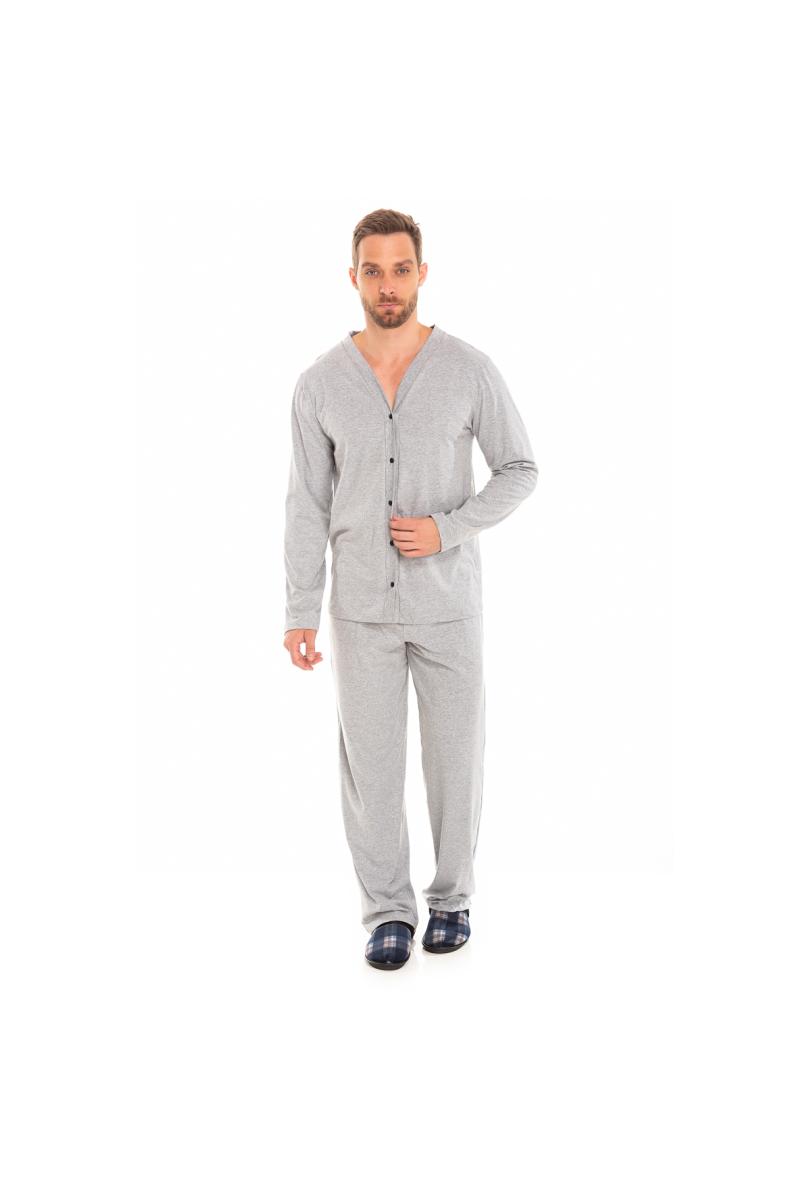 225/C- Pijama Adulto Masculino Aberto Mescla