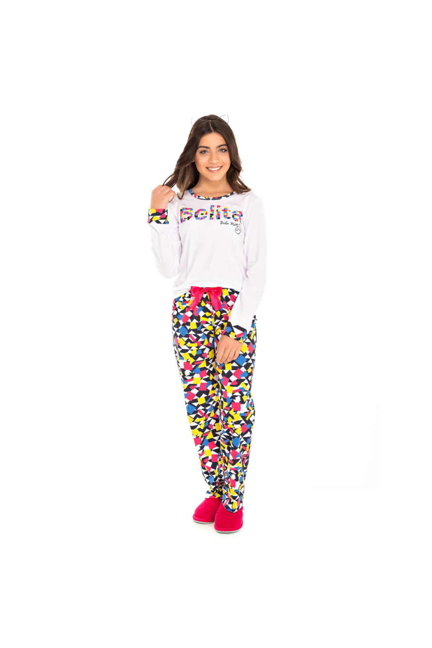 097/B - Pijama Juvenil Feminino Belita Colorido