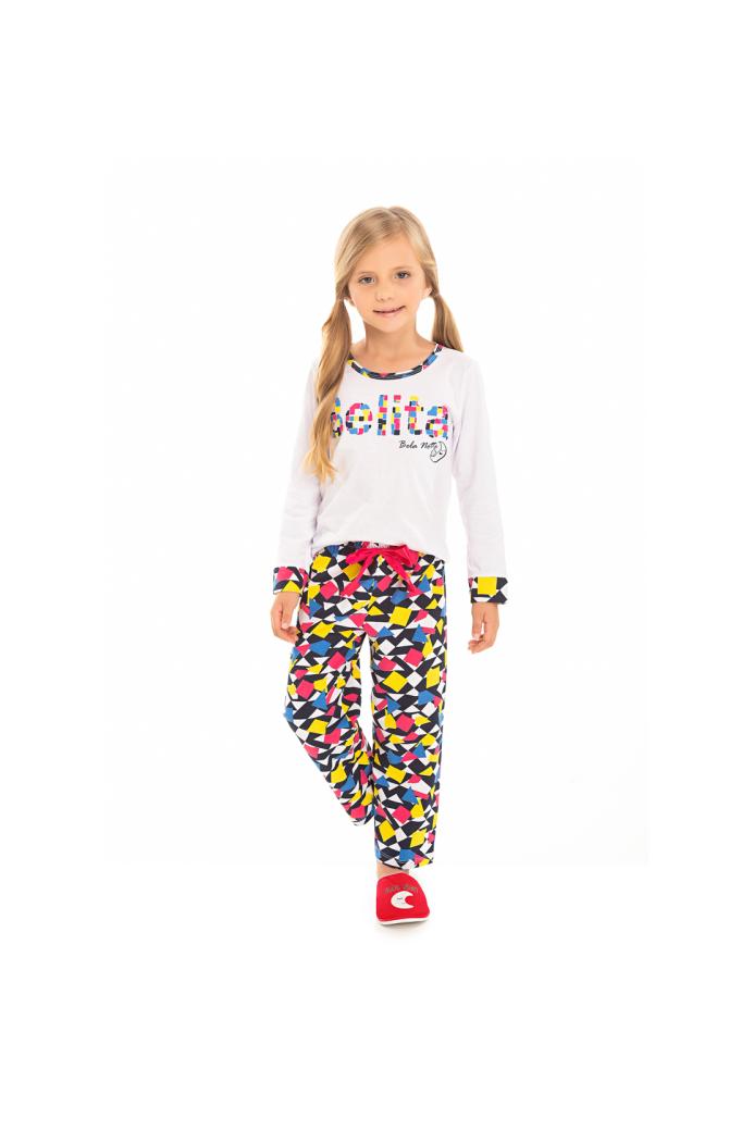097/C - Pijama Infantil Feminino Belita Colorido