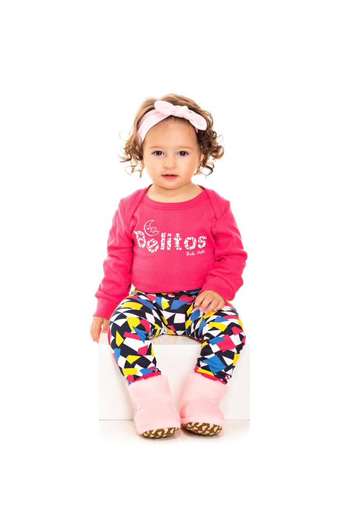 206/F - Pijama Bebê Feminino Belitos Colorido