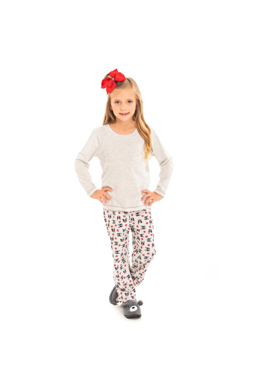 099/F - Pijama Infantil Feminino Bulldog