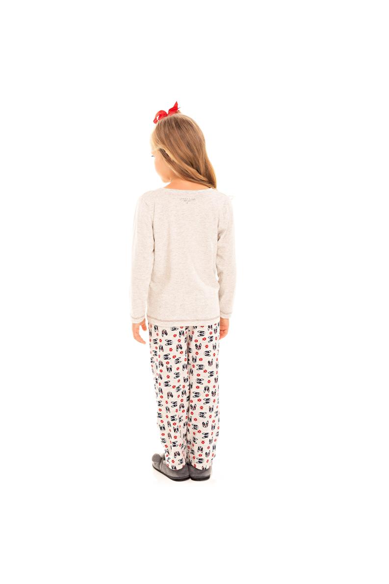 221/C - Pijama Infantil Feminino Bulldog