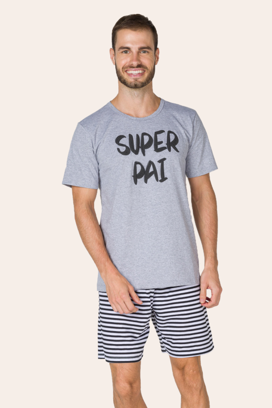 002/G - Pijama Adulto Masculino Super Pai