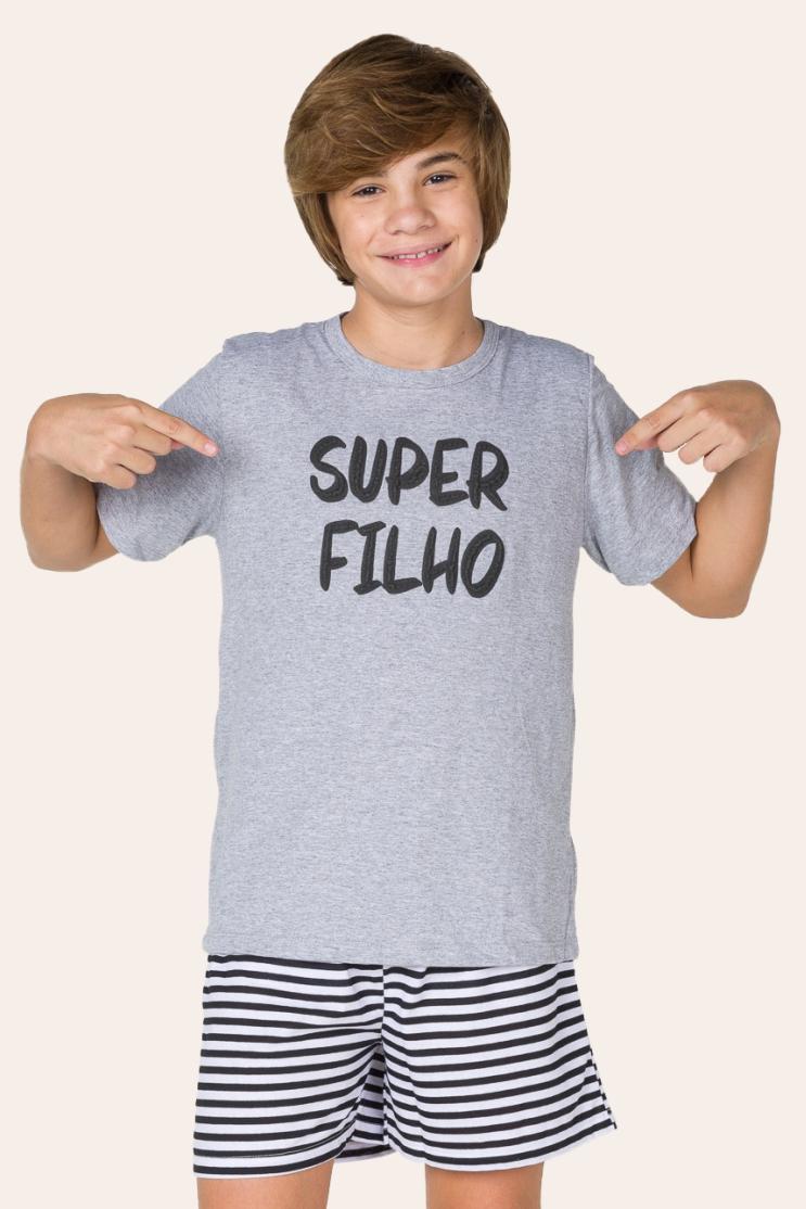 002/I  - Pijama  Juvenil Masculino Super Filho